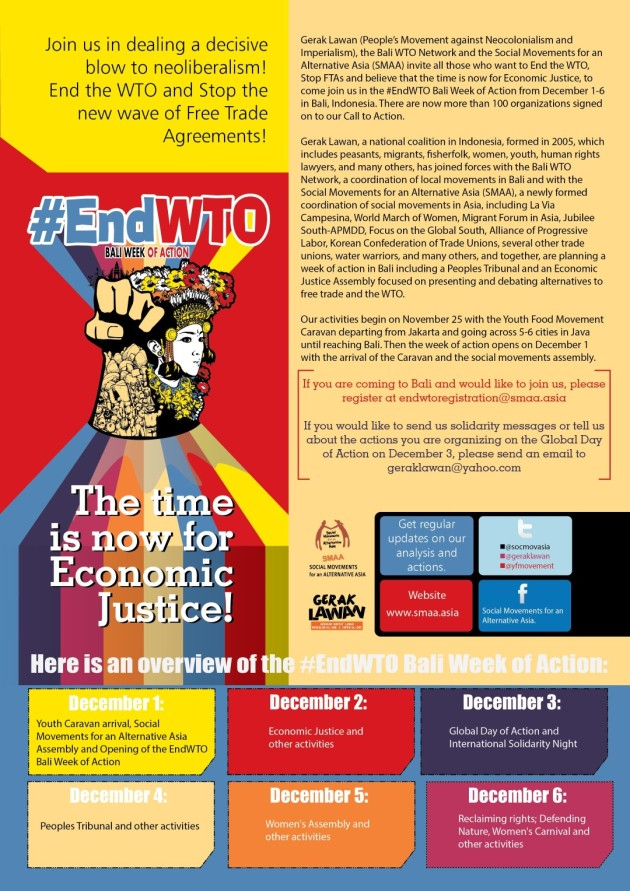 #EndWTO Bali Week of Action!