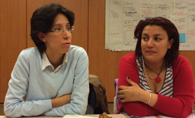 Souha Ben Othman and Wafa Francuis from l'Association des Tunisienne des Femmes Democrates