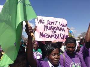 World March of Women in Mozambique marching against the ProSavana mega-development.